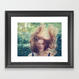 A bohemian storm is brewing Framed Art Print