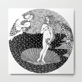Venus - Botticelli Metal Print