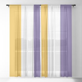 Women's Suffrage Flag Sheer Curtain