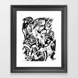 Doktor Steampug- Black and White Framed Art Print