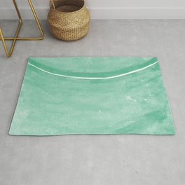 Cohesion Watercolor Print in Mint Rug