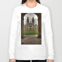 college Long Sleeve T-shirts featuring Christ Church College, Oxford by Best Light Images