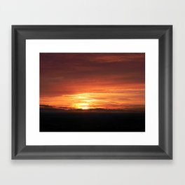 SETTING SUN II Framed Art Print