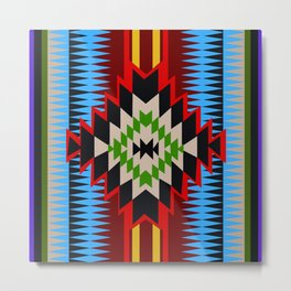 American Native Pattern No. 96 Metal Print