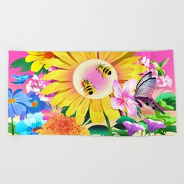Garden Beach Towel