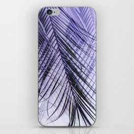 Palm Leaves On A Violet Background #decor #society6 #buyart iPhone Skin
