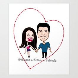 Rebecca Black and Simon Cowell are Friends Art Print