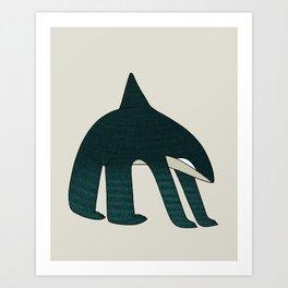 Orcabear Art Print