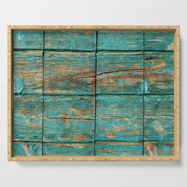 Rustic Teal Boards (Color) Serving Tray