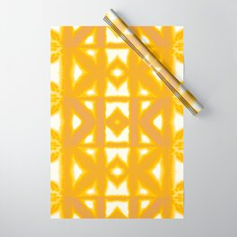 Yellow Pima Shibori Wrapping Paper