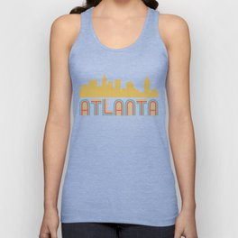 Vintage Style Atlanta Georgia Skyline Unisex Tank Top