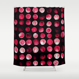 Fuxia Dots Shower Curtain