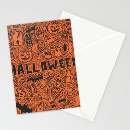 Halloween Doodle Stationery Cards