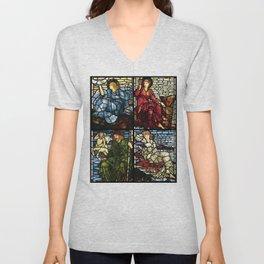 "Edward Burne-Jones ""Stained glass collection"" Unisex V-Neck"