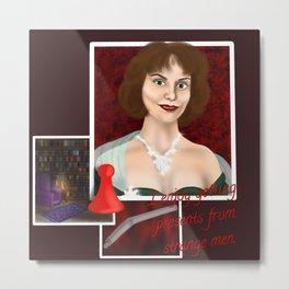 Miss Scarlet Metal Print