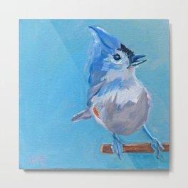 Little Blue Birdie Metal Print
