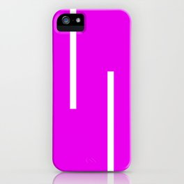 Abstract Retro Stripes Pinky iPhone Case