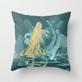 Nymph of the river Throw Pillow