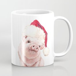 Christmas Pink Pig Coffee Mug
