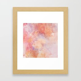 Cracked Watercolor on Canvas Framed Art Print