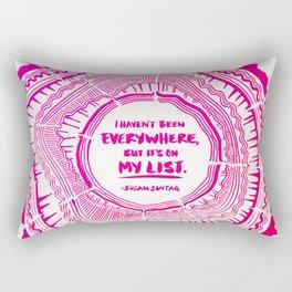 My List – Pink Ombré Ink Rectangular Pillow