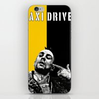 taxi driver iPhone & iPod Skins featuring Travis Bickle Taxi Driver by Maxim Garg