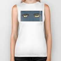 gatsby Biker Tanks featuring Gatsby Stare  by Julia Lopez