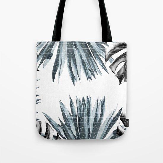 Geometric agave & monstera Tote Bag