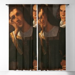 "Giorgione (Giorgio Barbarelli da Castelfranco) ""Double-Portrait"" Blackout Curtain"