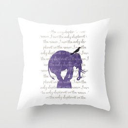 the only elephant Throw Pillow