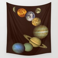 solar system Wall Tapestries featuring The Solar System by GalaxyDreams