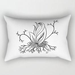 Floral black lotus fantasy art Rectangular Pillow