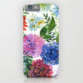 hydrangeas and chrysanthemums iPhone Case