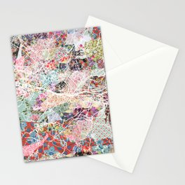 Florence map Stationery Cards
