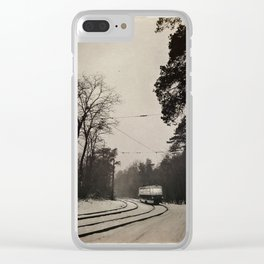 forest tram Clear iPhone Case