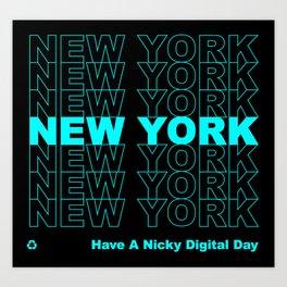 NEW YORK NEW YORK NEW YORK Art Print