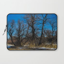 Wyoming Winter Trees Laptop Sleeve