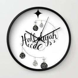 "Hand Written Holiday Themed ""Hallelujah"" Wall Clock"