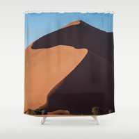 dune Shower Curtains featuring Sand Dune by Katie Jo Sheppard