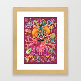 My favorite Monsters And Birds Part 2 Framed Art Print