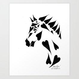Heart Horse Art Print
