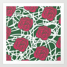 ROSE SQUIGGLE Art Print