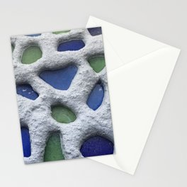 Sea Glass Mosaic Detail Stationery Cards
