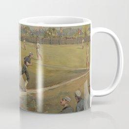 Vintage Painting of a Baseball Game (1887) Coffee Mug