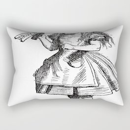 Alice Drink Me Bottle Alice in Wonderland in Black with Transparent Background Rectangular Pillow
