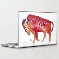 bison Laptop & iPad Skins featuring Bison by Armyhu