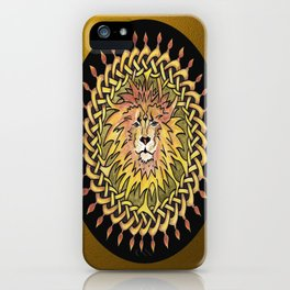Lion Celtic Knot Mandala iPhone Case