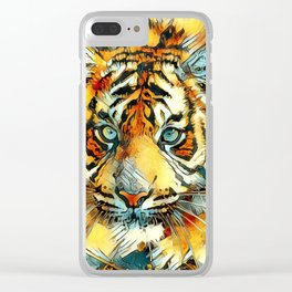AnimalArt_Tiger_20170607_by_JAMColorsSpecial Clear iPhone Case