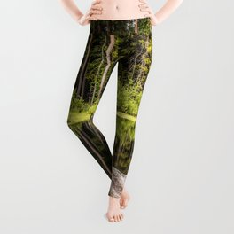 Quiet Forest lake Leggings