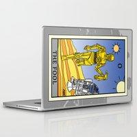 tarot Laptop & iPad Skins featuring The Fool - Tarot Card by kamonkey